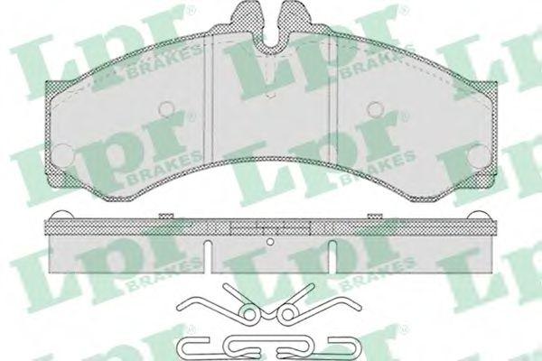Комплект тормозных колодок, дисковый тормоз LPR арт. 05P633