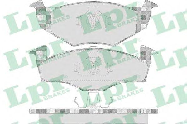Комплект тормозных колодок, дисковый тормоз LPR арт. 05P638