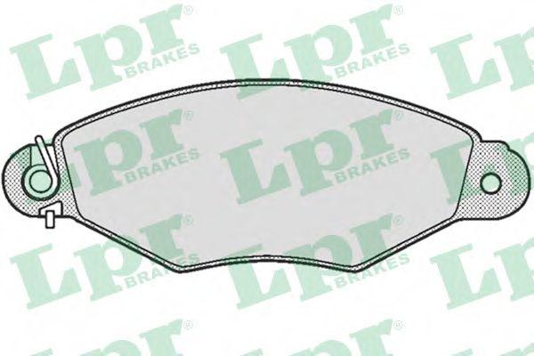 Комплект тормозных колодок, дисковый тормоз LPR арт. 05P661