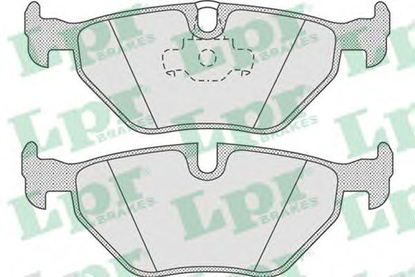 Комплект тормозных колодок, дисковый тормоз LPR арт. 05P675