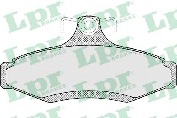 Комплект тормозных колодок, дисковый тормоз LPR арт. 05P694