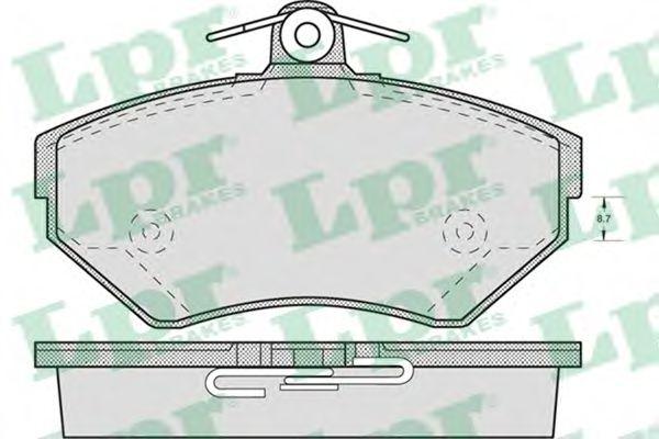 Комплект тормозных колодок, дисковый тормоз LPR арт. 05P719