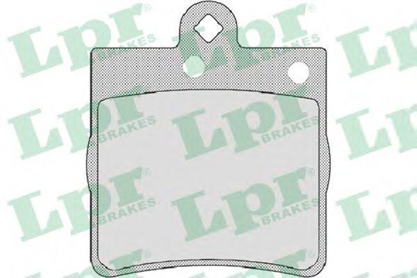 Комплект тормозных колодок, дисковый тормоз LPR арт. 05P726