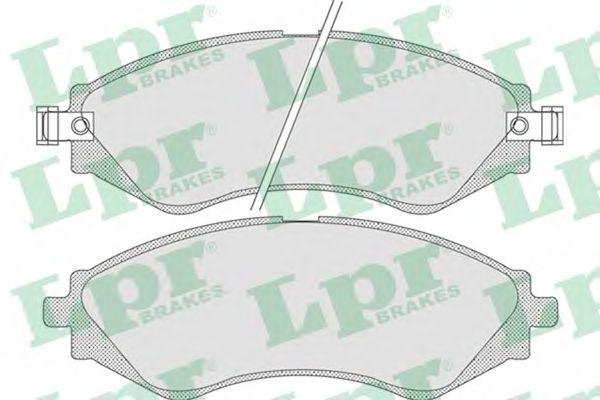 Комплект тормозных колодок, дисковый тормоз LPR арт. 05P729