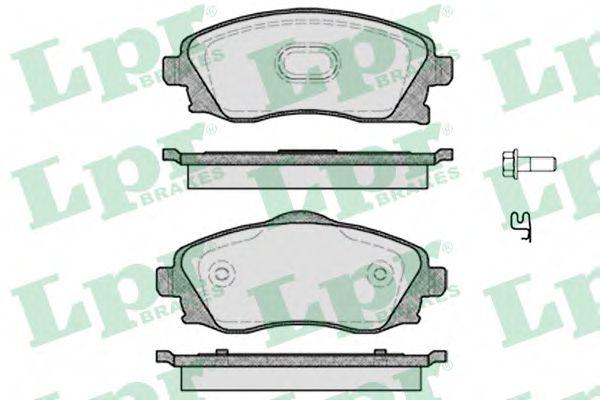 Комплект тормозных колодок, дисковый тормоз LPR арт. 05P758
