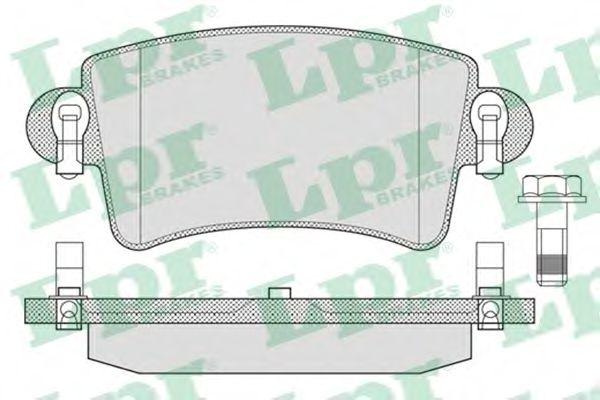Комплект тормозных колодок, дисковый тормоз LPR арт. 05P791