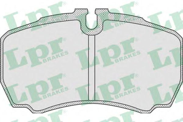 Комплект тормозных колодок, дисковый тормоз LPR арт. 05P830