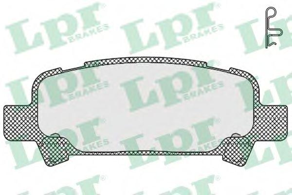 Комплект тормозных колодок, дисковый тормоз LPR арт. 05P838