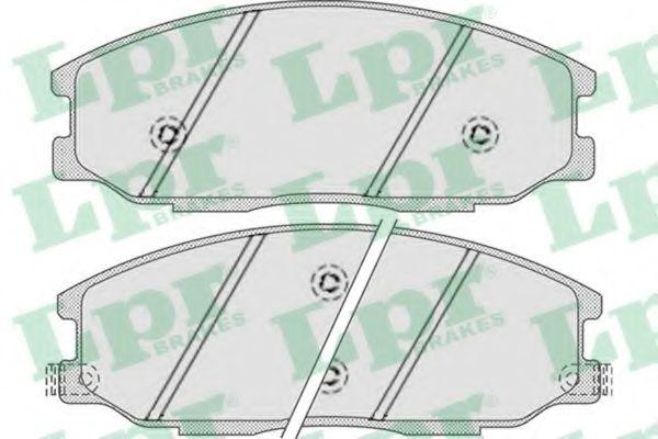 Комплект тормозных колодок, дисковый тормоз LPR арт. 05P858