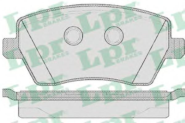Комплект тормозных колодок, дисковый тормоз LPR арт. 05P867
