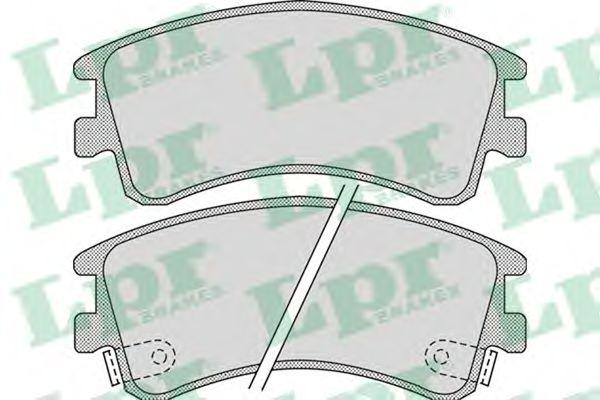 Комплект тормозных колодок, дисковый тормоз LPR арт. 05P878