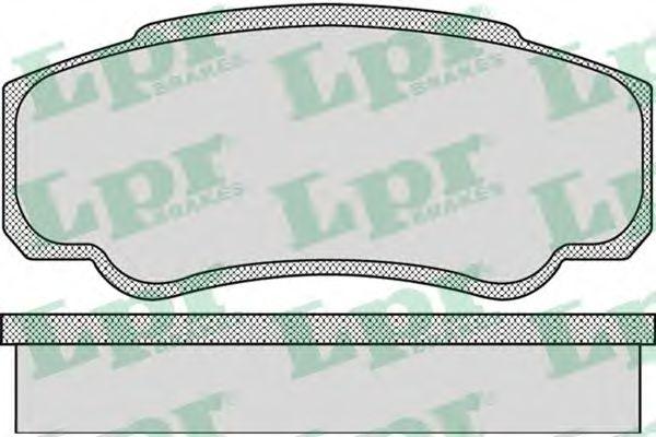 Комплект тормозных колодок, дисковый тормоз LPR арт. 05P885