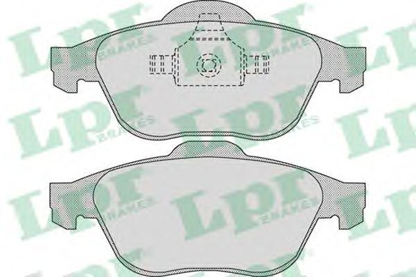 Комплект тормозных колодок, дисковый тормоз LPR арт. 05P898