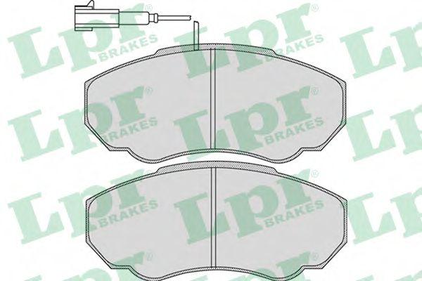 Комплект тормозных колодок, дисковый тормоз LPR арт. 05P966