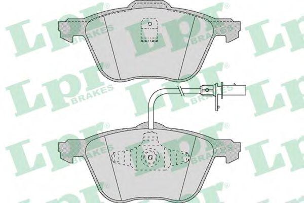 Комплект тормозных колодок, дисковый тормоз LPR арт. 05P971