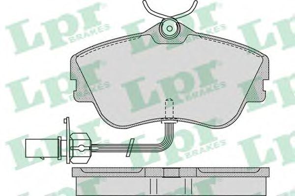 Комплект тормозных колодок, дисковый тормоз LPR арт. 05P977