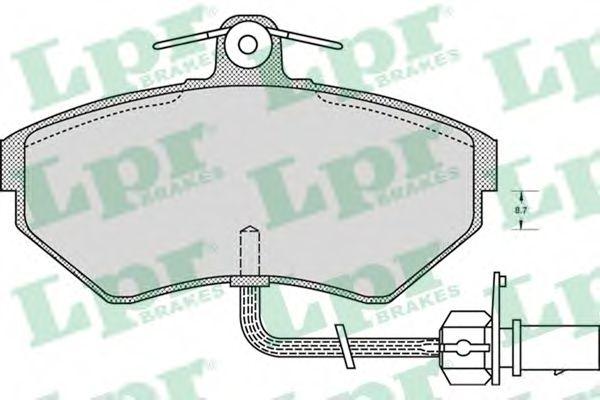Комплект тормозных колодок, дисковый тормоз LPR арт. 05P979