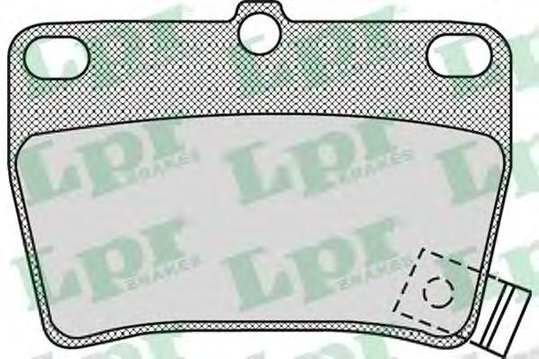 Комплект тормозных колодок, дисковый тормоз LPR арт. 05P997