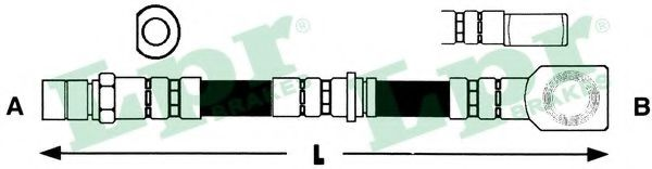 Тормозной шланг LPR арт. 6T46186
