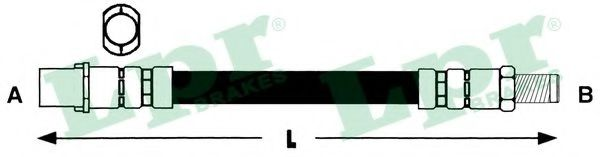 Тормозной шланг LPR арт. 6T46315