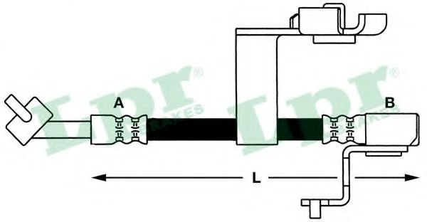 Тормозной шланг LPR арт. 6T46658