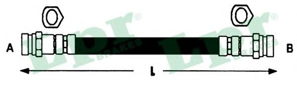 Тормозной шланг LPR арт. 6T46412