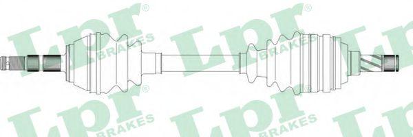 Приводной вал LPR арт. DS37020