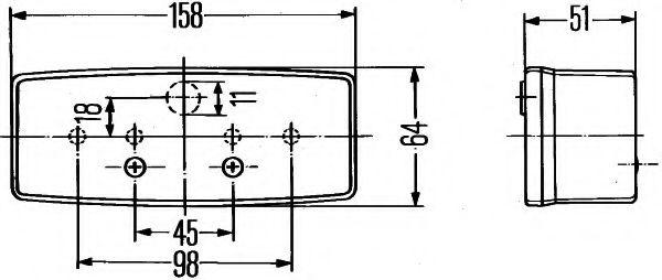 Задний фонарь HELLA арт. 2SD003184041