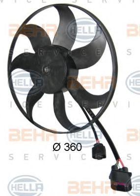 Вентилятор, охлаждение двигателя HELLA арт. 8EW351039171