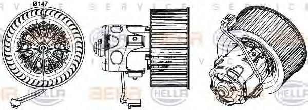 Вентилятор салона HELLA арт. 8EW351043271