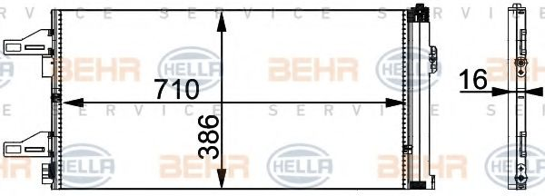Конденсатор, кондиционер HELLA арт. 8FC351301601