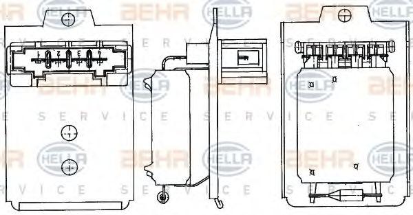 Сопротивление, вентилятор салона HELLA арт. 9ML351303261
