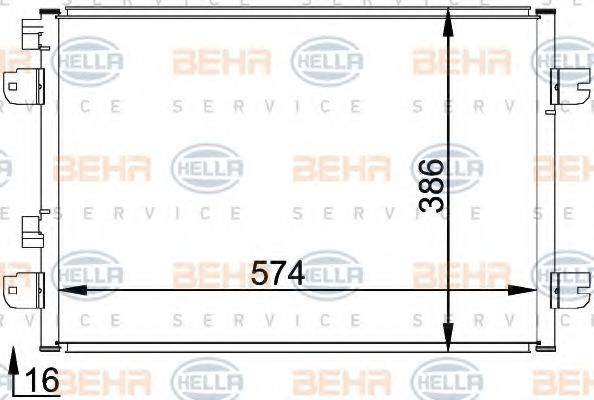 Конденсатор, кондиционер HELLA арт. 8FC351318371