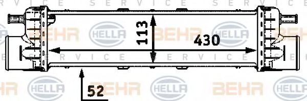 Интеркулер HELLA арт. 8ML376723191
