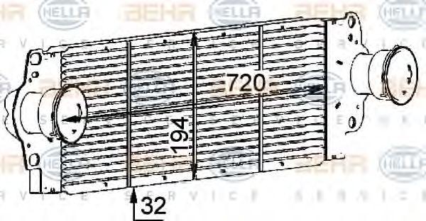 Интеркулер HELLA арт. 8ML376723511