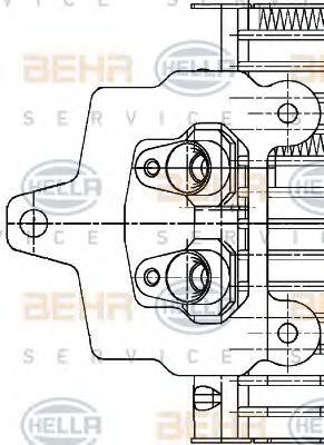 Масляный радиатор, автоматическая коробка передач HELLA арт. 8MO376726291