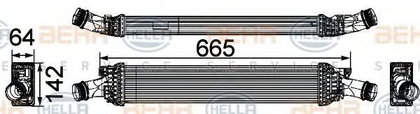 Интеркулер HELLA арт. 8ML376746191