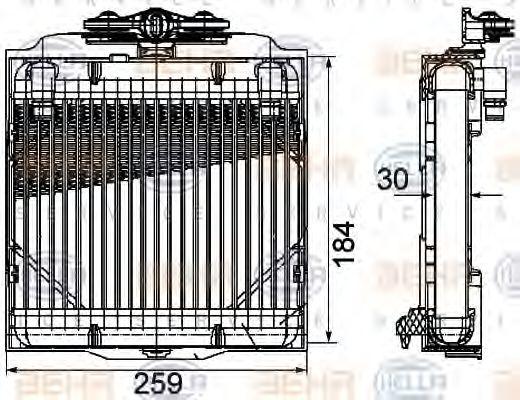 Масляный радиатор, автоматическая коробка передач HELLA арт. 8MO376753571