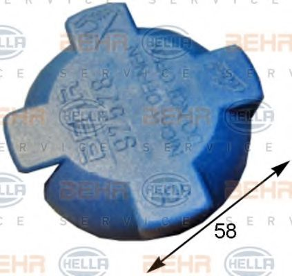 Крышка, резервуар охлаждающей жидкости HELLA арт. 8MY376780591