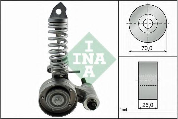 Натяжная планка, поликлиновой ремень INA арт. 533008530