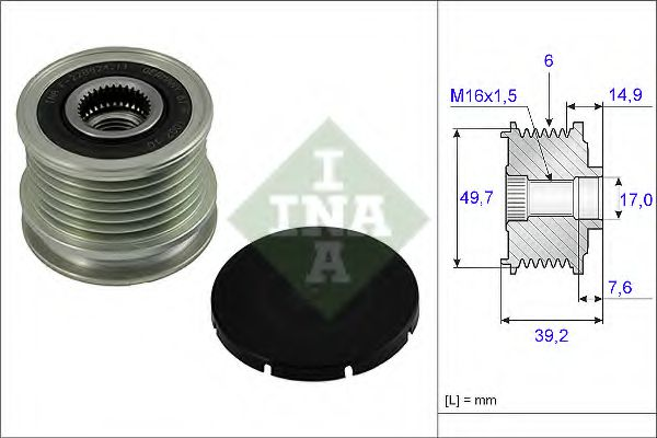 Механизм свободного хода генератора INA арт. 535001510