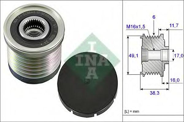 Механизм свободного хода генератора INA арт. 535003010