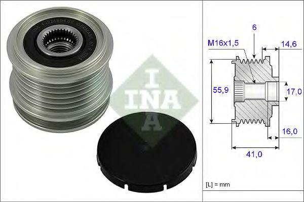 Механизм свободного хода генератора INA арт. 535001010