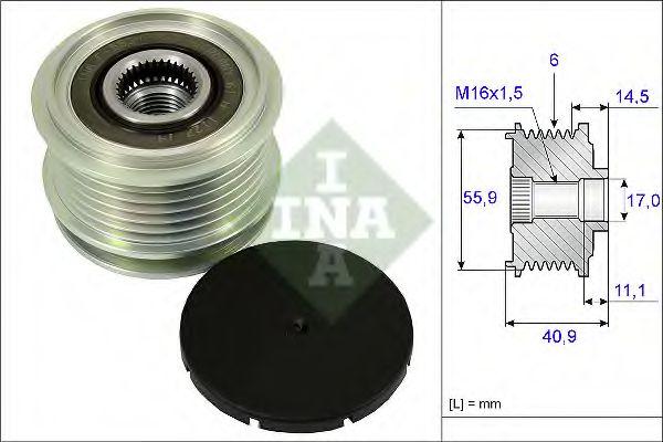 Механизм свободного хода генератора INA арт. 535001210