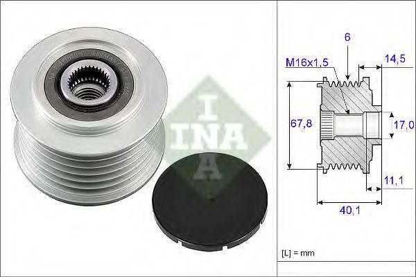 Механизм свободного хода генератора INA арт.