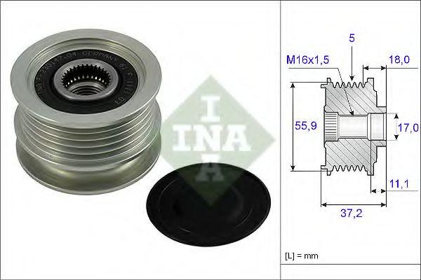 Муфта генератора INA 535001810