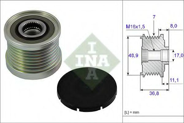Механизм свободного хода генератора INA арт. 535008110
