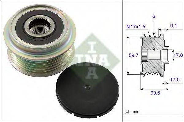Механизм свободного хода генератора INA арт. 535013310
