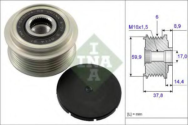 Механизм свободного хода генератора INA арт. 535013510