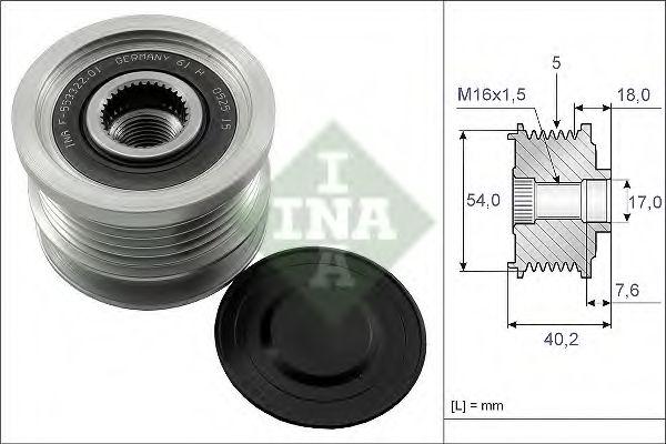 Механизм свободного хода генератора INA арт. 535014310